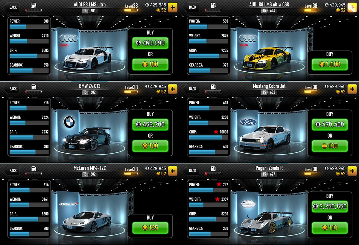 Badaro 아이폰 레이싱게임 Csr Racing 마지막 5지역 클리어 T5 차량 종류 및 구입