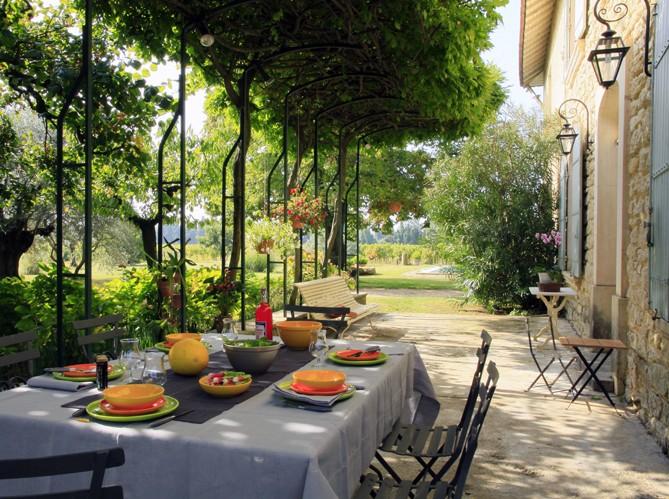 Estilo rustico patios rusticos en francia for Patios rusticos