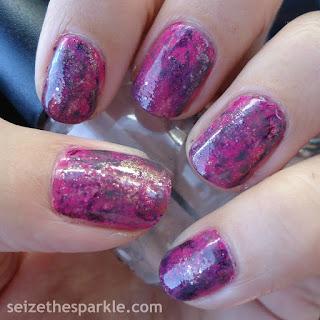 Pink & Purple Seriotype Manicure
