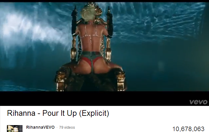 Rihanna's Strip 'Pour It Up' Video