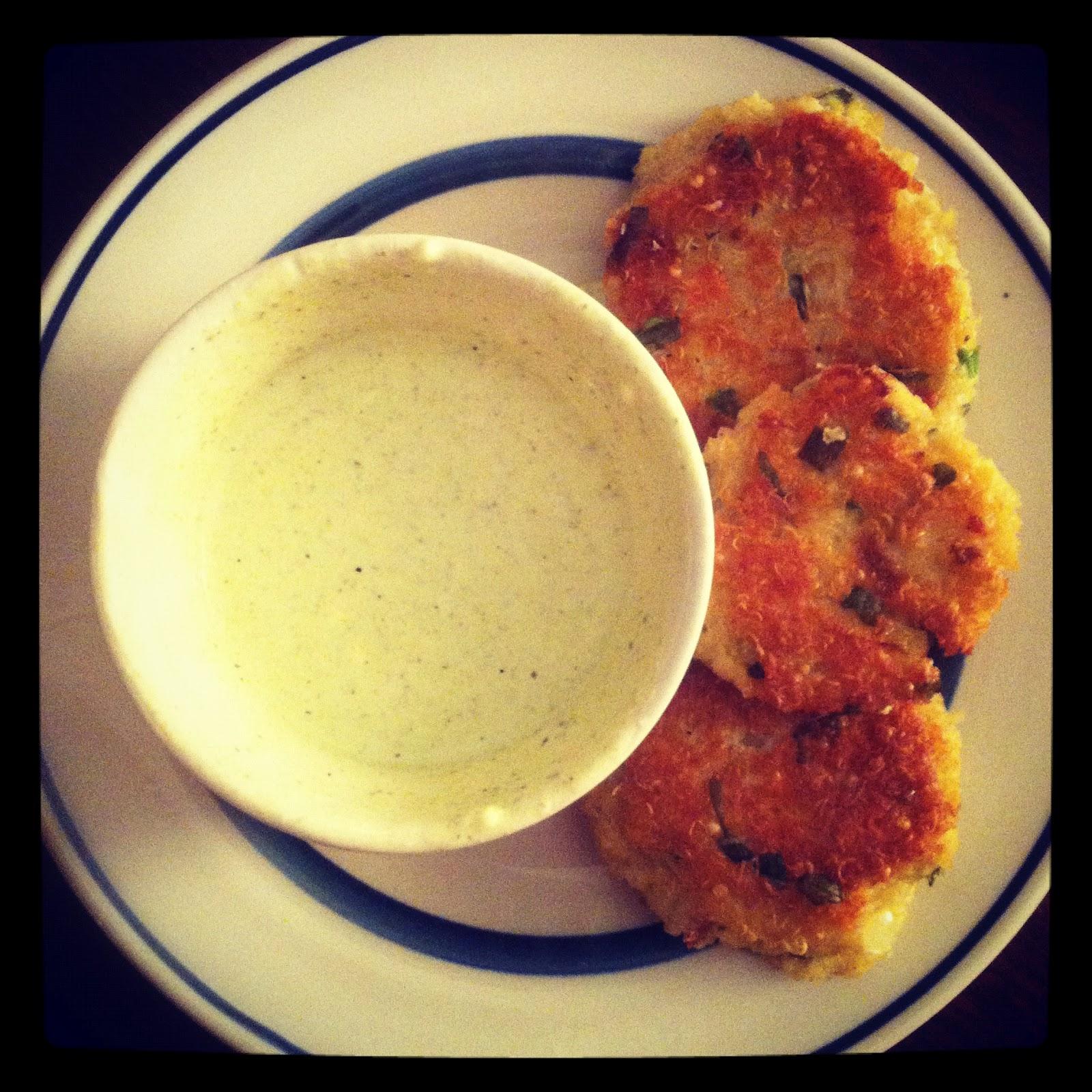 1 teaspoon love: Lemon Basil Quinoa Cakes