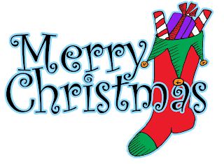 download this free eri*doodle Merry Christmas title with stocking for digital scrapbooking