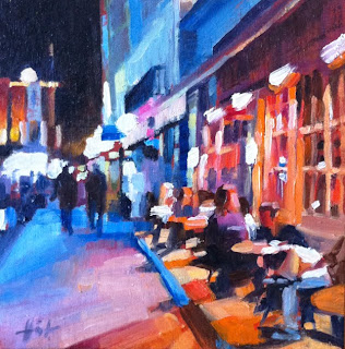 Outside Oscar's by Liza Hirst