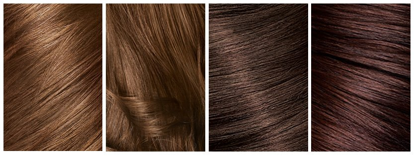Brown Hair Color Swatch Respective swatches for above