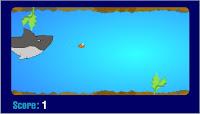 Jogo de Peixe a nadar fugindo do tubarão