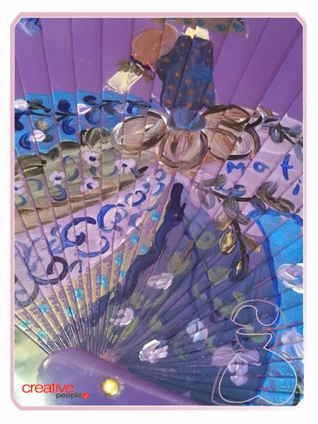 Falda de la Menina Flor decorada a mano en abanico realizado por Sylvia Lopez Morant