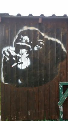 rauchender Affe in Solln, München