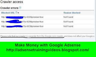 Google Adsense ke Crawler Errors ko kaise fix kar sakte hai?