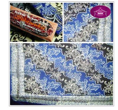 Batik Tulis Lurik Biru