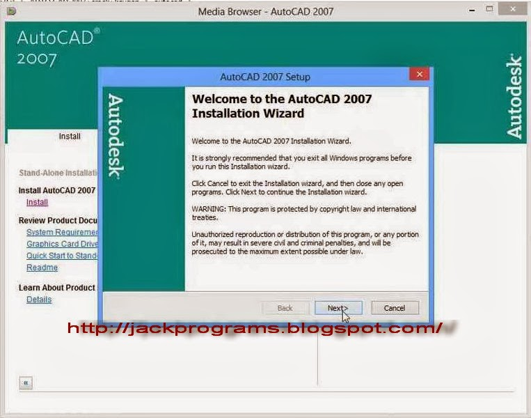 Free Autocad Crack 2007