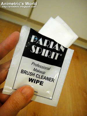 Parian Spirit Professional Make-Up Brush Cleaner Wipe