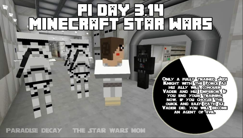Pi Day Minecraft Star Wars