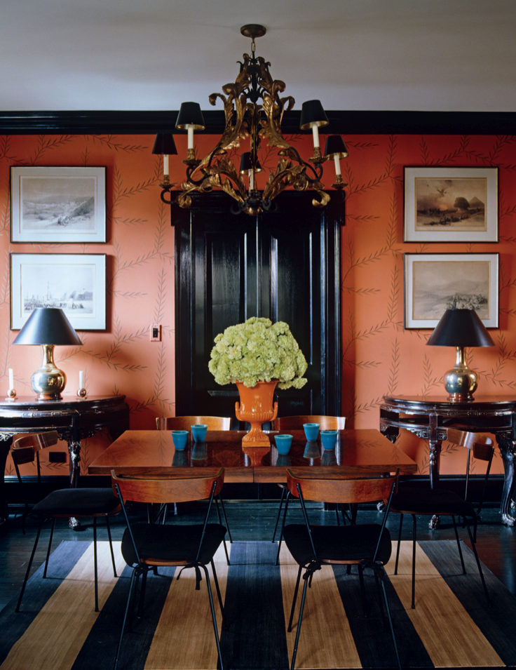 Do you decorate fearlessly t h e v i s u a l v a for Orange dining room design ideas