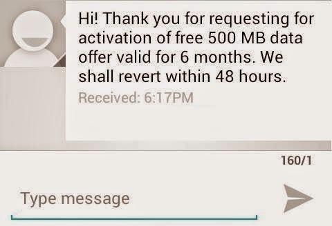 TataDocomo Free Internet 500 MB | 6 Months Validity | Mobile Data