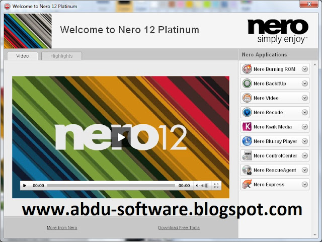 Free Download Nero 12 Multimedia Platinum HD