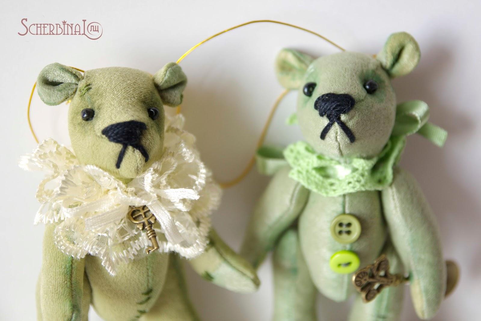 мини мишки, игрушки на ёлку своими руками