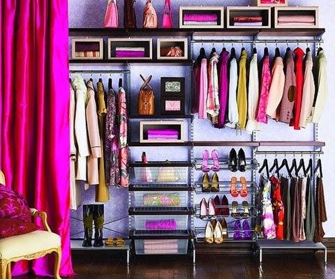 拉簾做為更衣室簡單又美觀