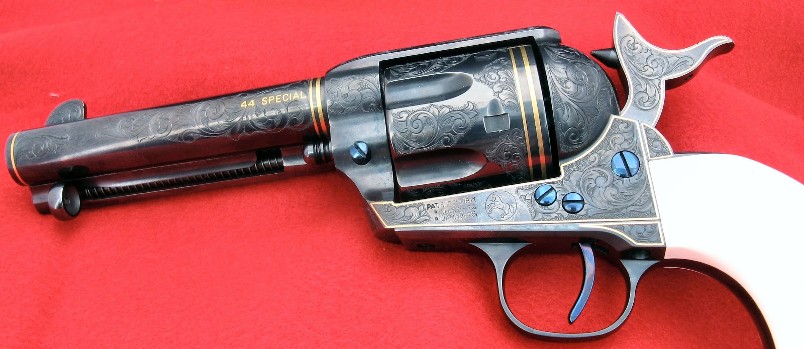 The Colt Single Action Army Revolver Below Has Cylinder Pin Trigger And Screws Done In Nitre Blue Click On Picture For A Larger Version