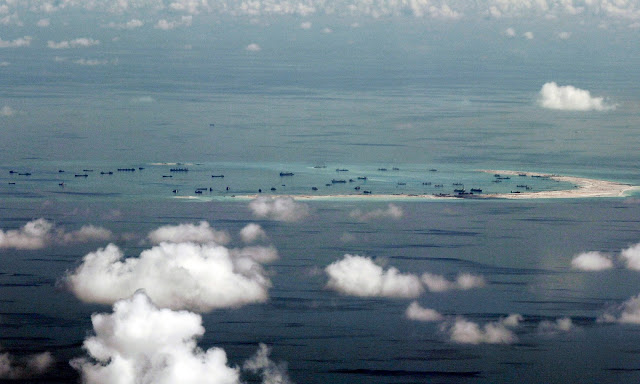 Mischief Reef in the Spratly Islands