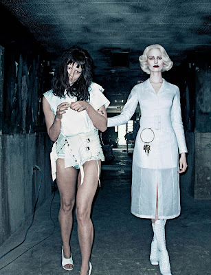 Karolina Kurkova & Crystal Renn in 'Institute White' by Steven Klein for Interview Magazine-3