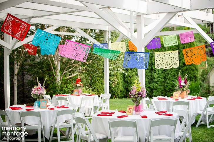 wedding with papel picados and La víbora de la mar