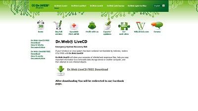 Dr.Web LiveCD, Antivirus