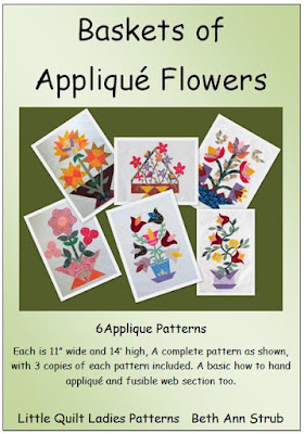 Basket of Applique Flowers Pattern by The Quilt Ladies