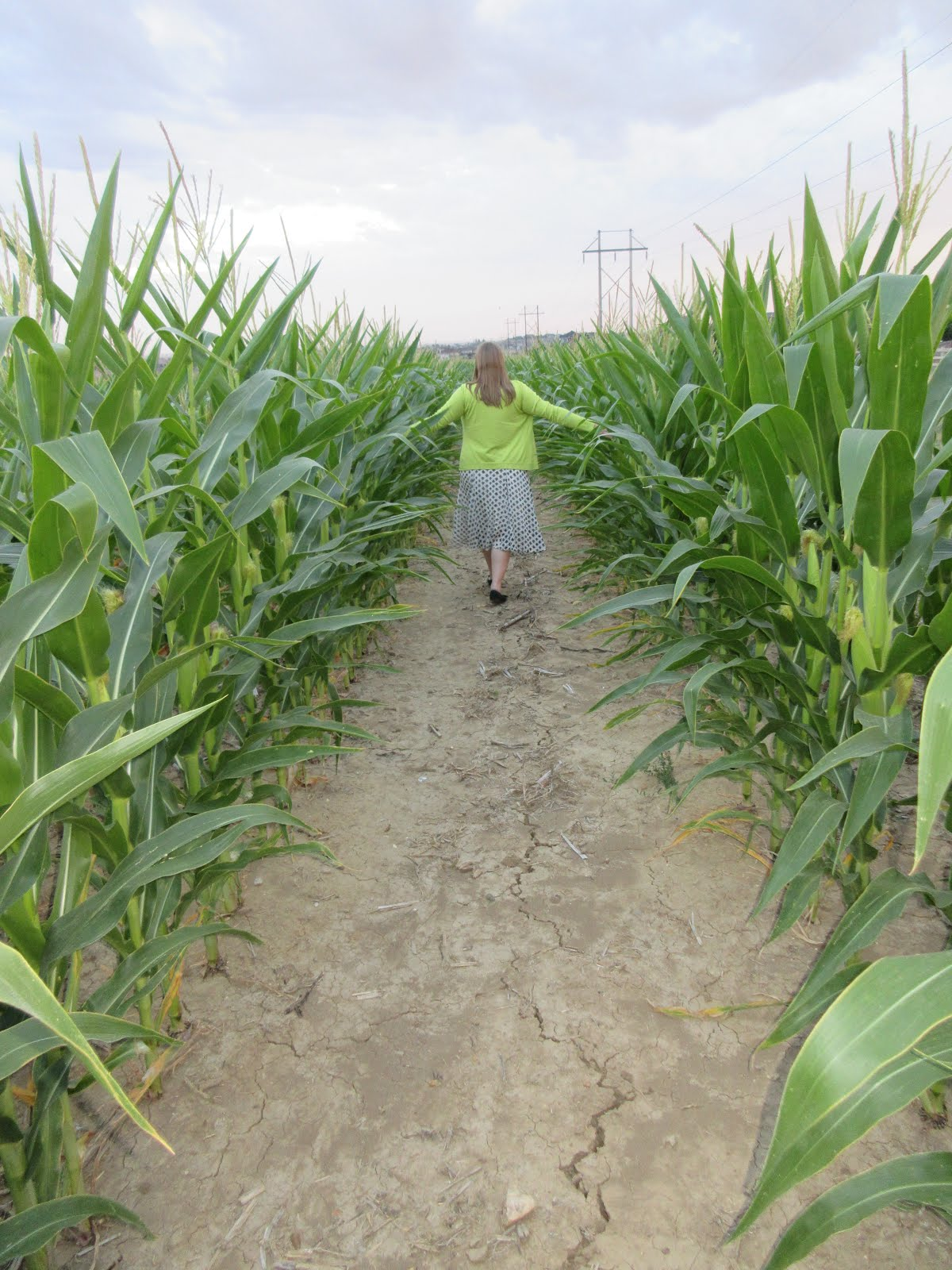 Sister Richards playing Smallville in a Cornfield