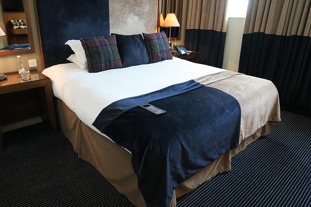 Club room queen size bed at Malmaison Leeds