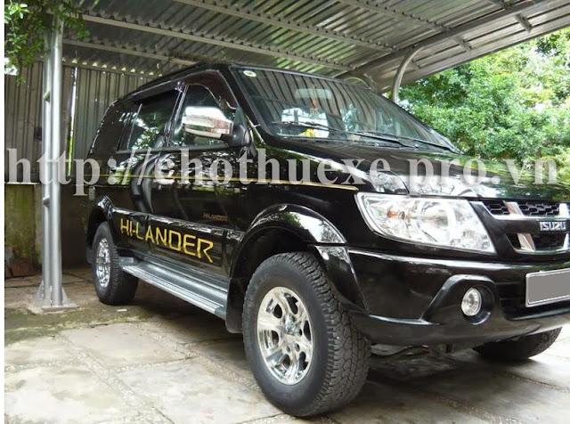 Cho thuê xe du lịch 7 chỗ Isuzu Hilander tại Hà Nội
