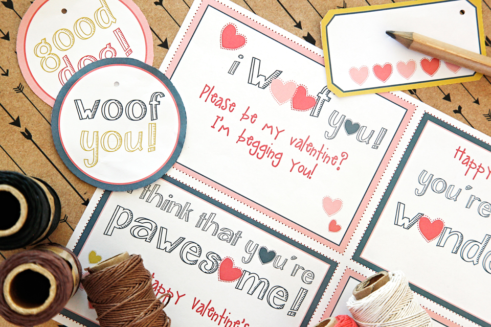 Dalmatian DIY Free Printable Valentines Day Dog Cards  Labels