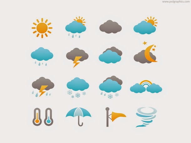 Weather Icons Set PSD
