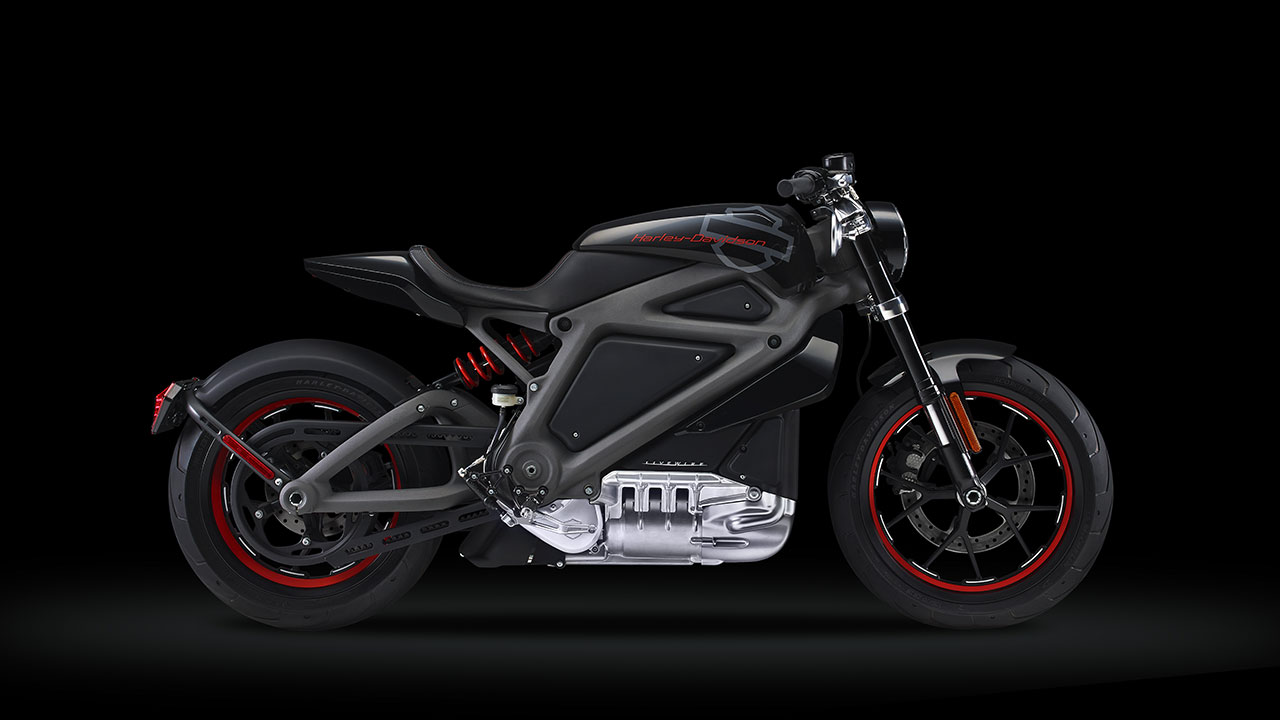 Electric Harley-Davidson Motorcycle side