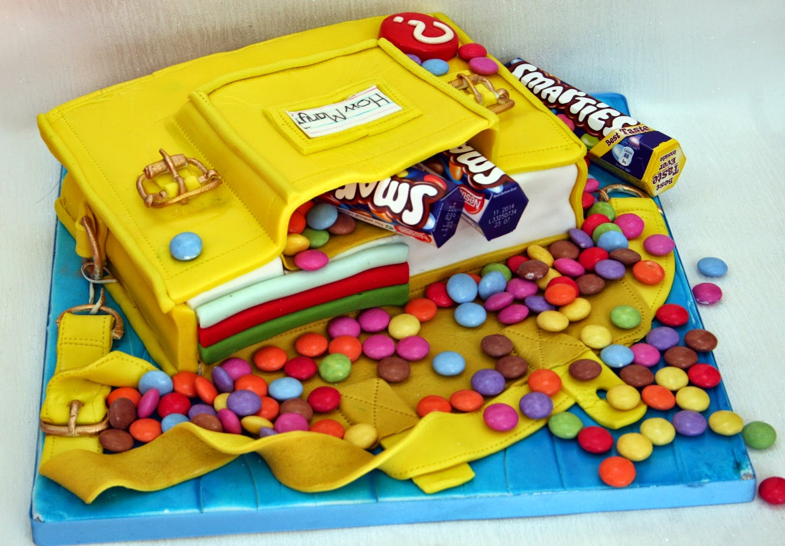 The Perfectionist Confectionist Guess How Many Smarties Cake