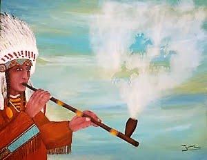 """Chaŋnúŋpa"" (pipe sacrée, calumet)"