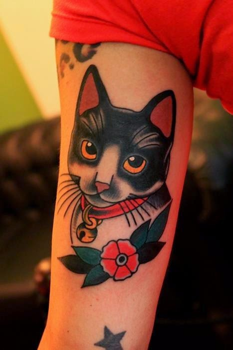20 Most Beautiful muscles Cat Tattoos Design & Ideas