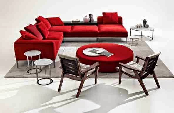 modern italian furniture design in red color for living room the ultra