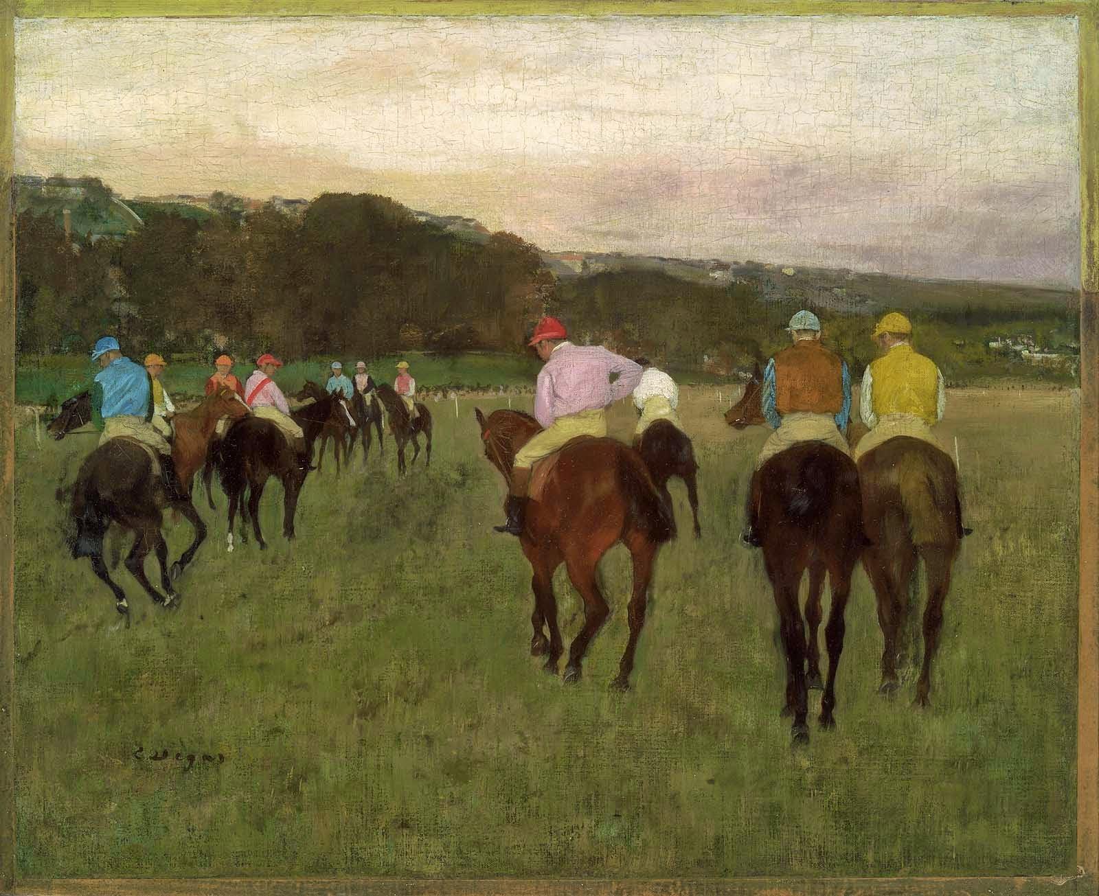 Chevaux de courses à Longchamp, 1871-1874