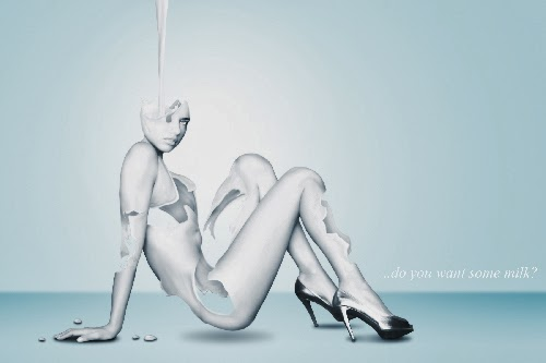 Transforming the Image of a Girl into a Milk Figure