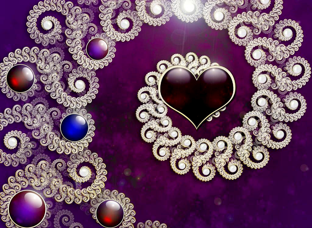 wallpaper purple hearts wallpapers - photo #42