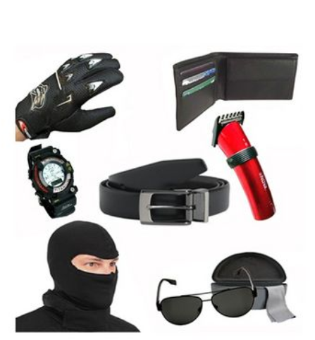 Buy Combo of Essential Style Accessories for Men from naptol at Rs 1299
