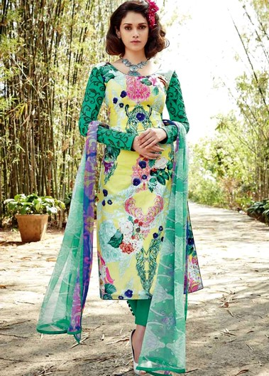 BAHNI Dazzle Collection By Junaam Dress For Sunny Summers 2015-16