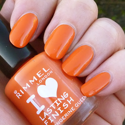 Rimmel Lasting Finish - Tangerine Queen Nail polish swatch
