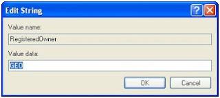 Mengubah nama registrasi pemilik (Owner ) komputer di system properties