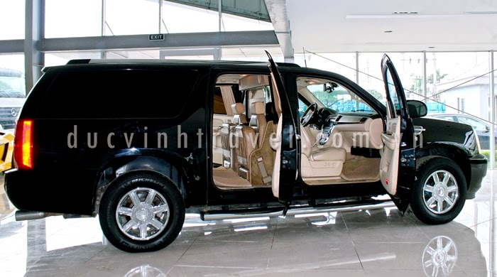 Cho thuê xe 7 chỗ VIP Cadilac Escalade Đen