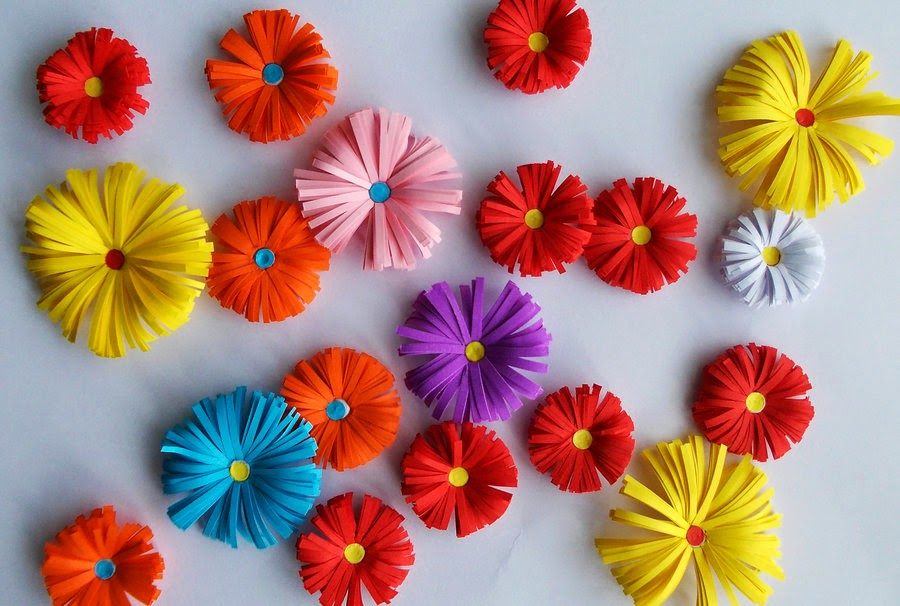 Origami paper flower easy origami kids origami paper flower mightylinksfo Choice Image