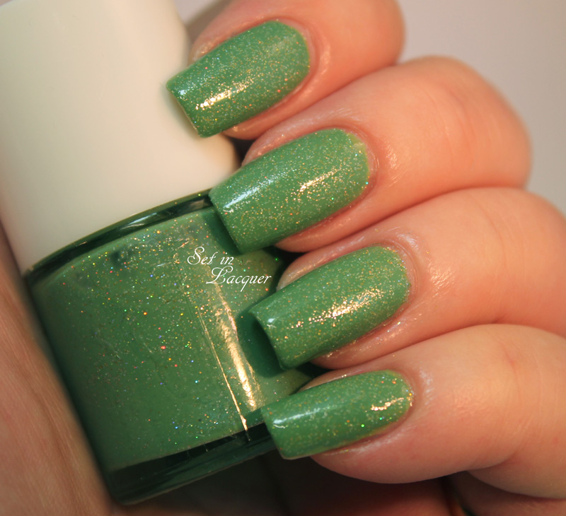 Holographic Green Frankened Nail Polish