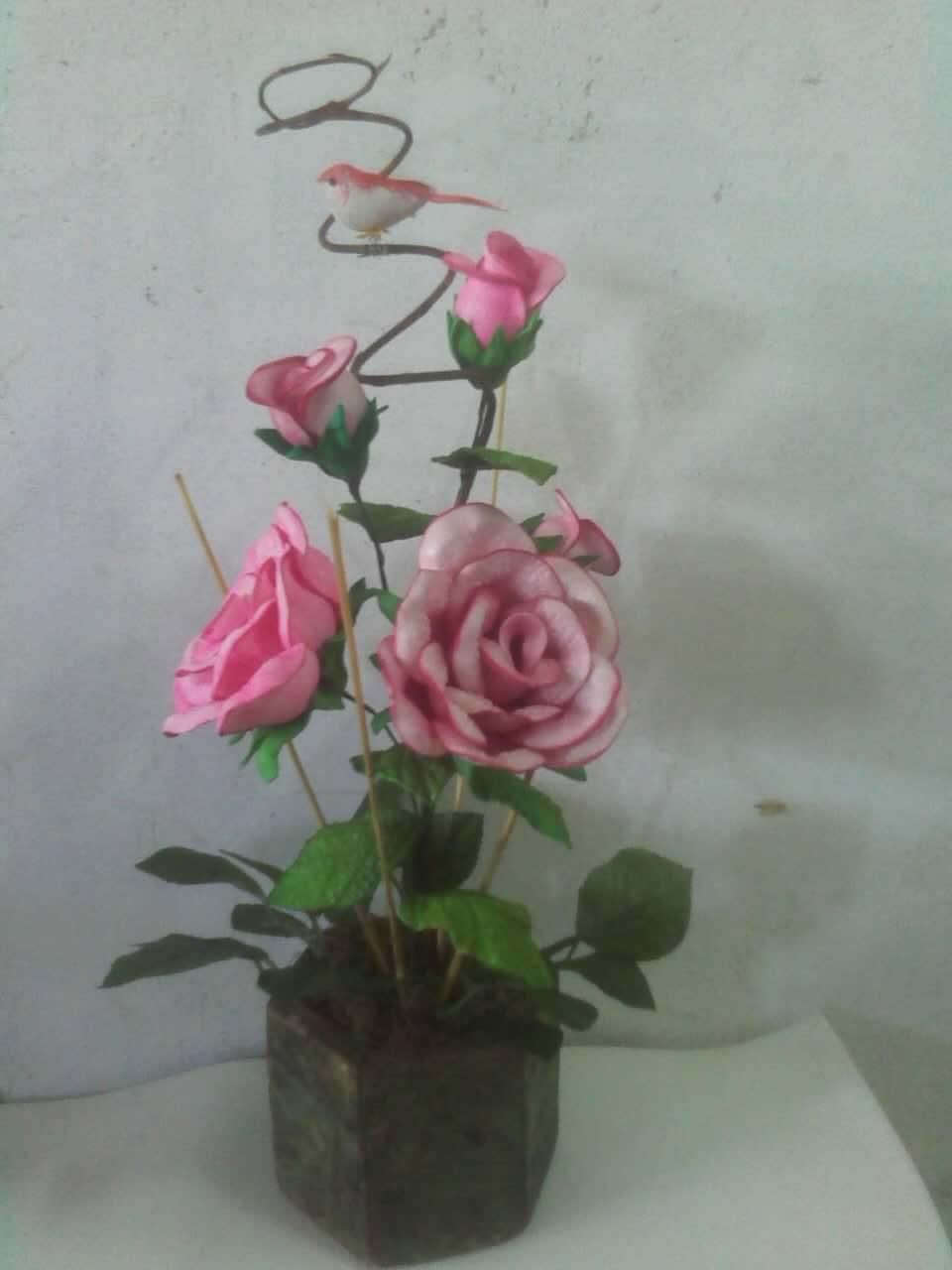 Mais Modelos De Arranjos De Flores Em E V A