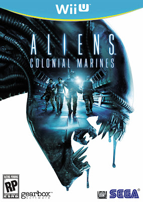 Box art for Wii U version of Aliens: Colonial Marines