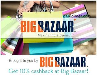 10% cashback at Big Bazaar via Mobikwik Wallet